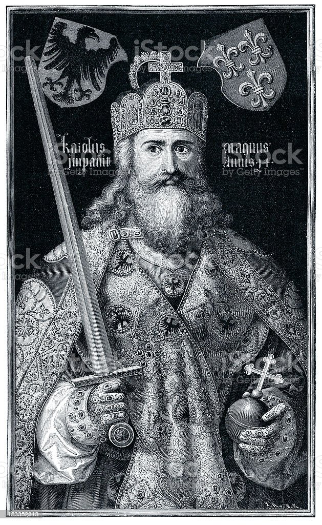 Charlemagne vector art illustration