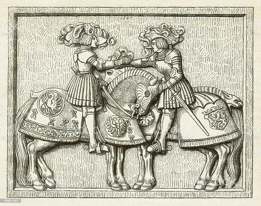 Charles and Ferdinand vector art illustration