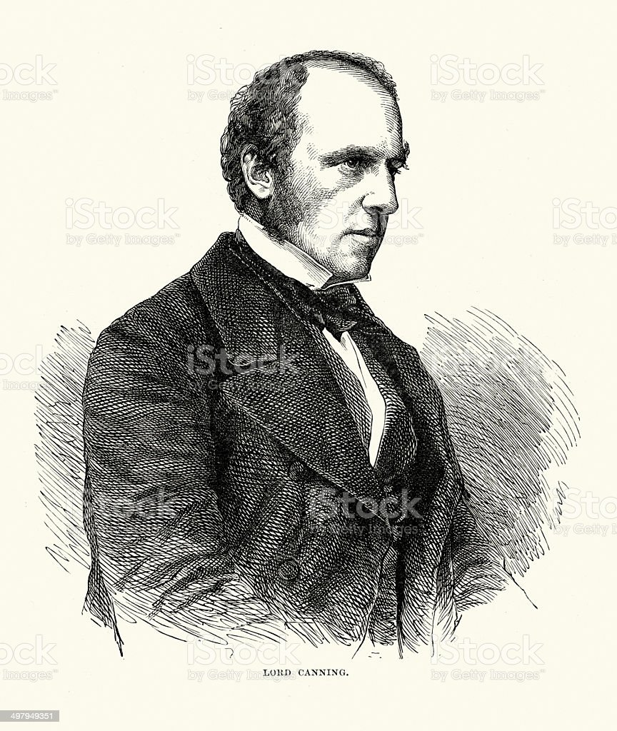 Charles Canning royalty-free stock vector art