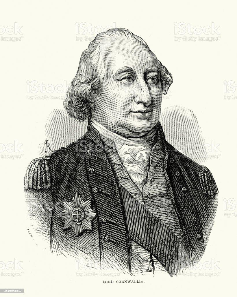 Charles Cornwallis royalty-free stock vector art