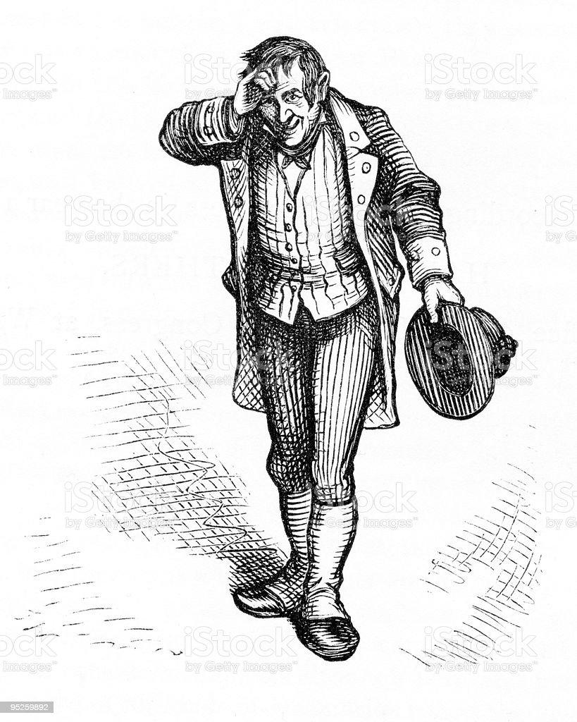 Charles Dickens 1873 royalty-free stock vector art