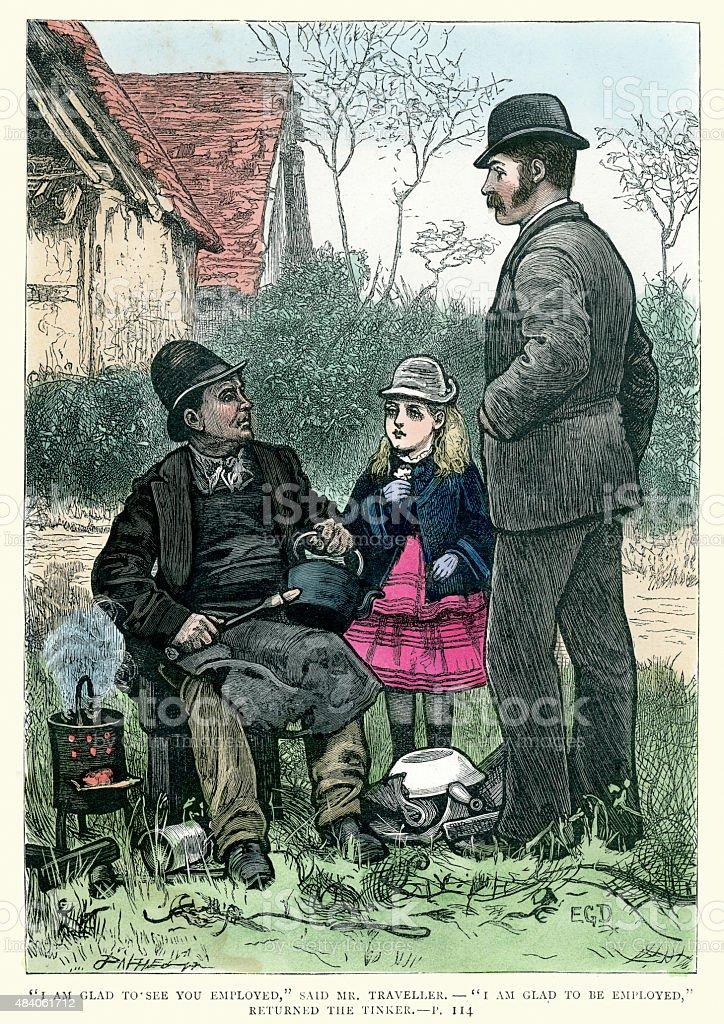 Charles Dickens - Christmas Stories vector art illustration
