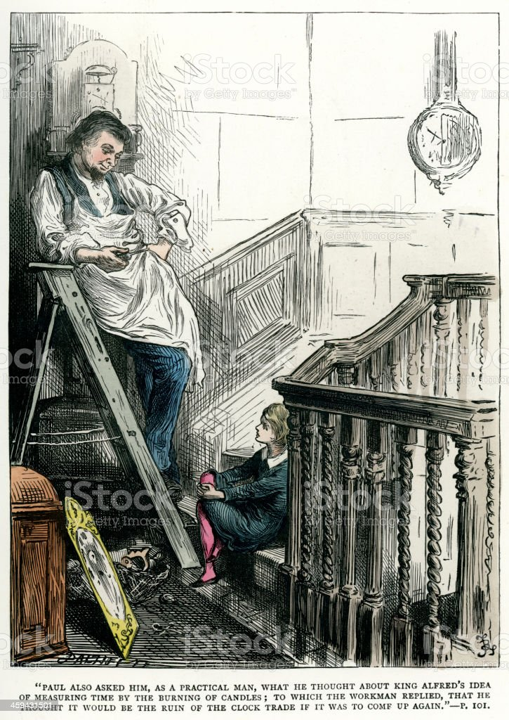 Charles Dickens - Dombey and Son royalty-free stock vector art