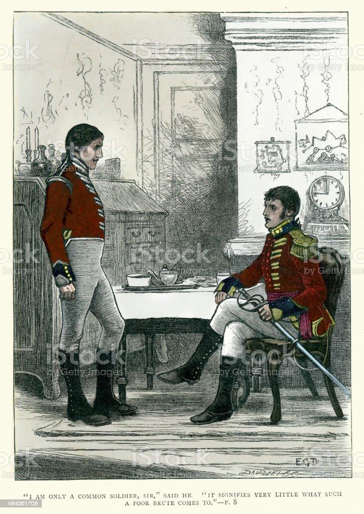 Charles Dickens - Tale of Richard Doubledick vector art illustration