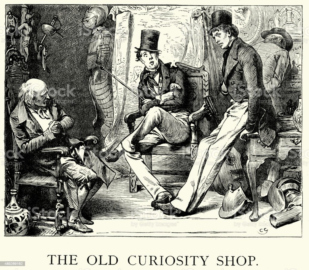 Charles Dickens - The Old Curiosity Shop vector art illustration
