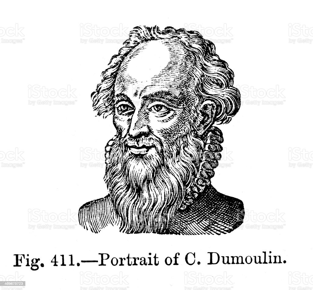 Charles Dumoulin royalty-free stock vector art