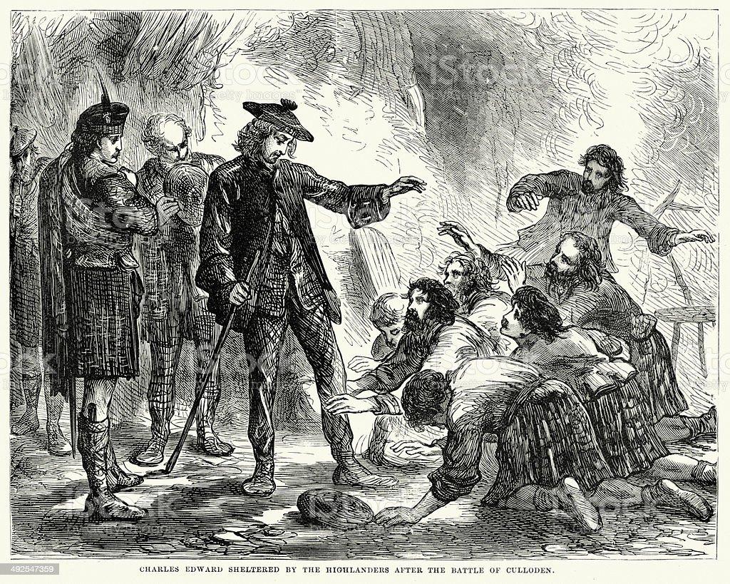 Charles Edward Stuart vector art illustration