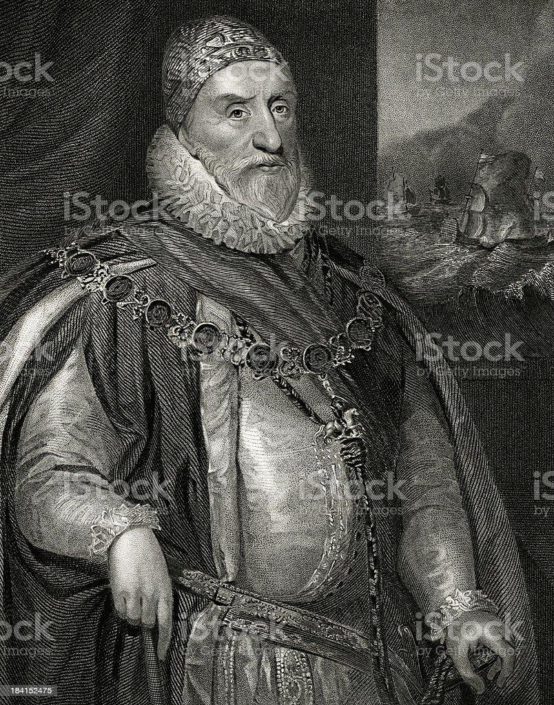 Charles Howard 1st Earl of Nottingham vector art illustration