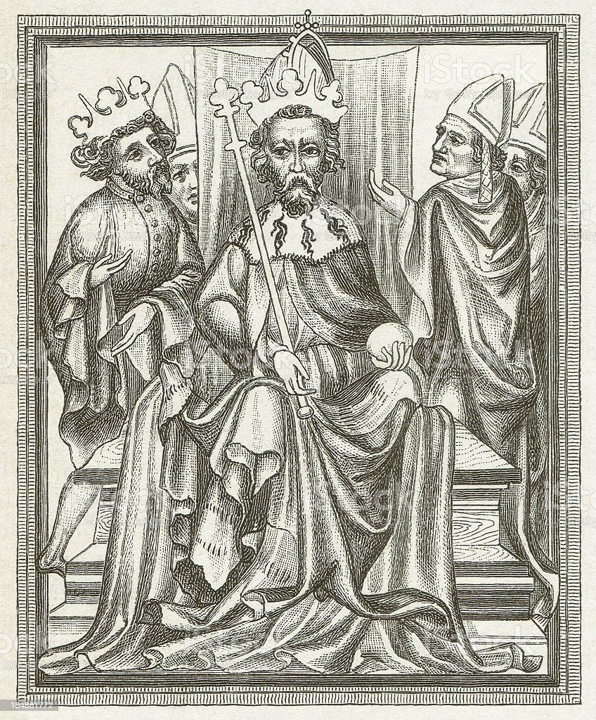 Charles IV vector art illustration