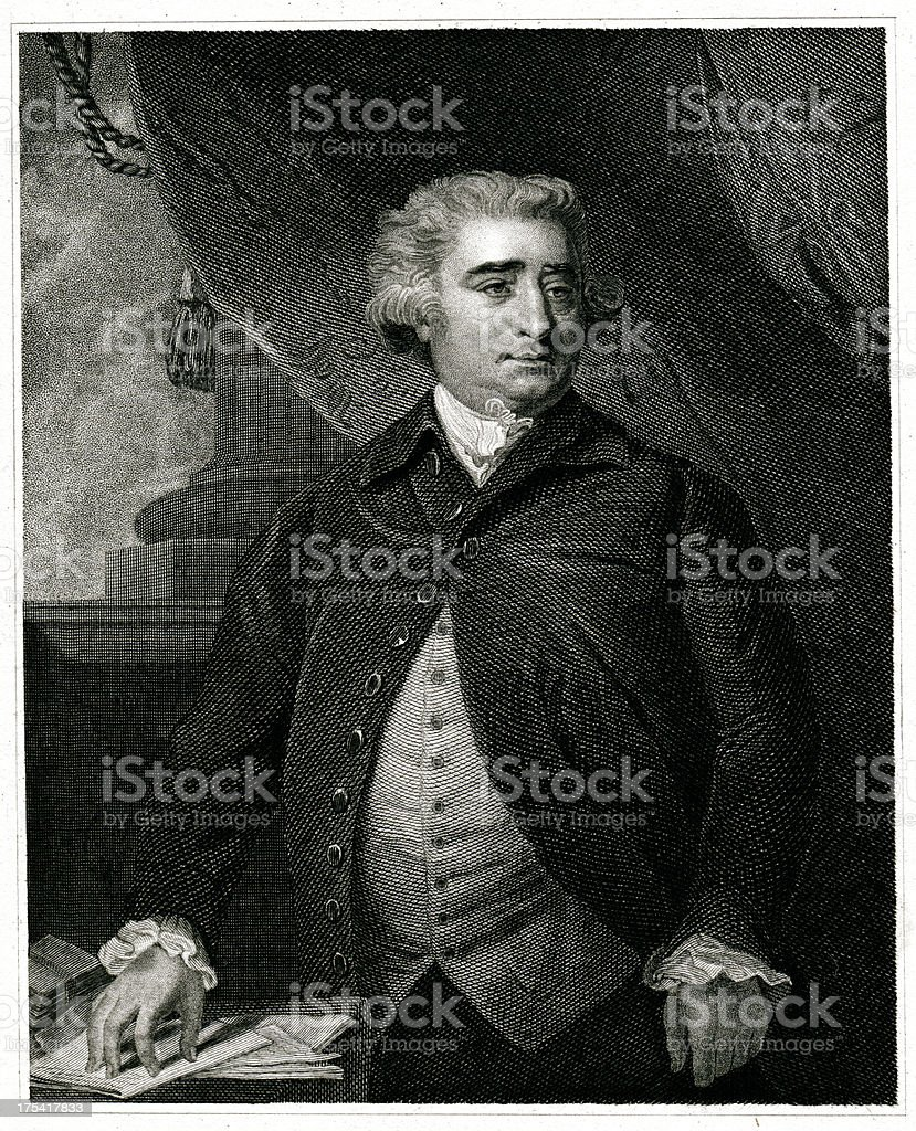 Charles James Fox royalty-free stock vector art