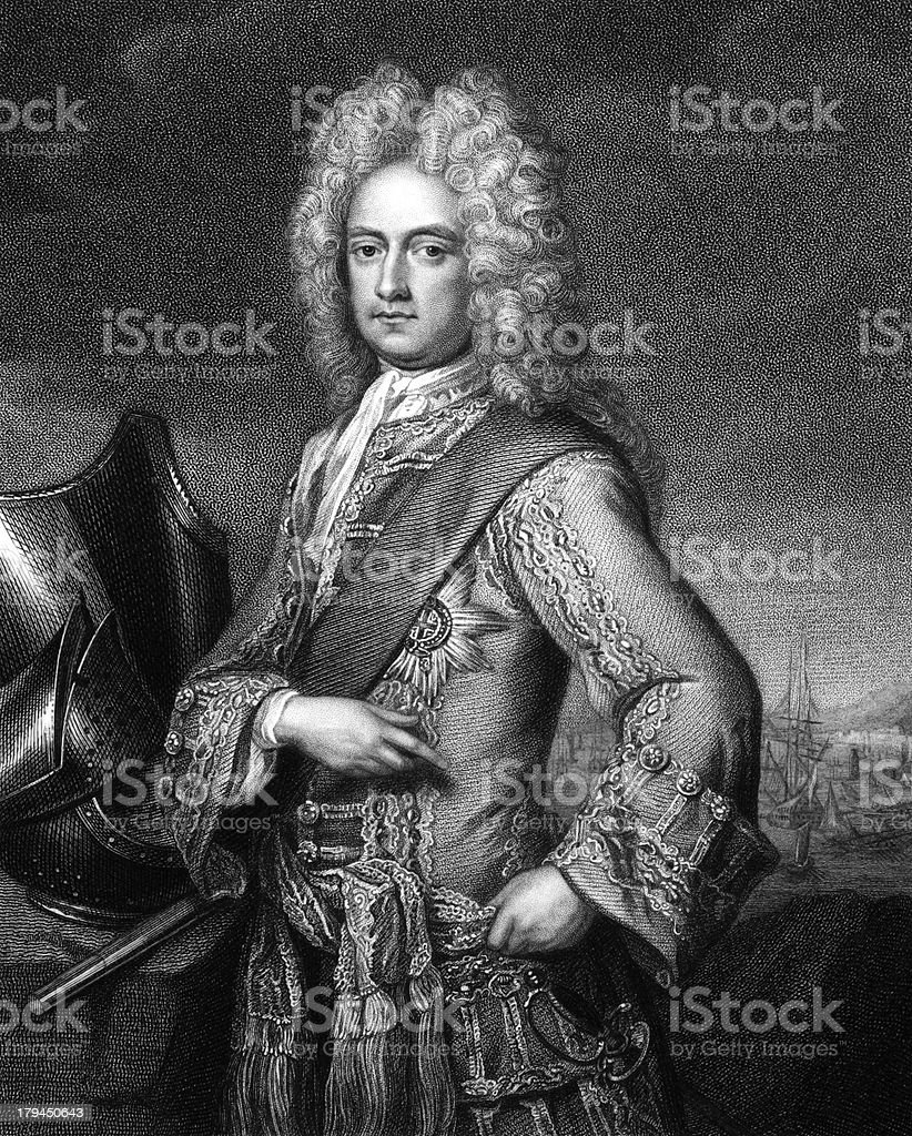 Charles Mordaunt, 3rd Earl of Peterborough vector art illustration