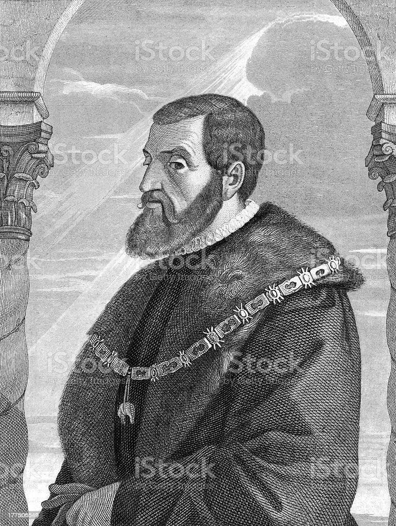 Charles V, Holy Roman Emperor vector art illustration