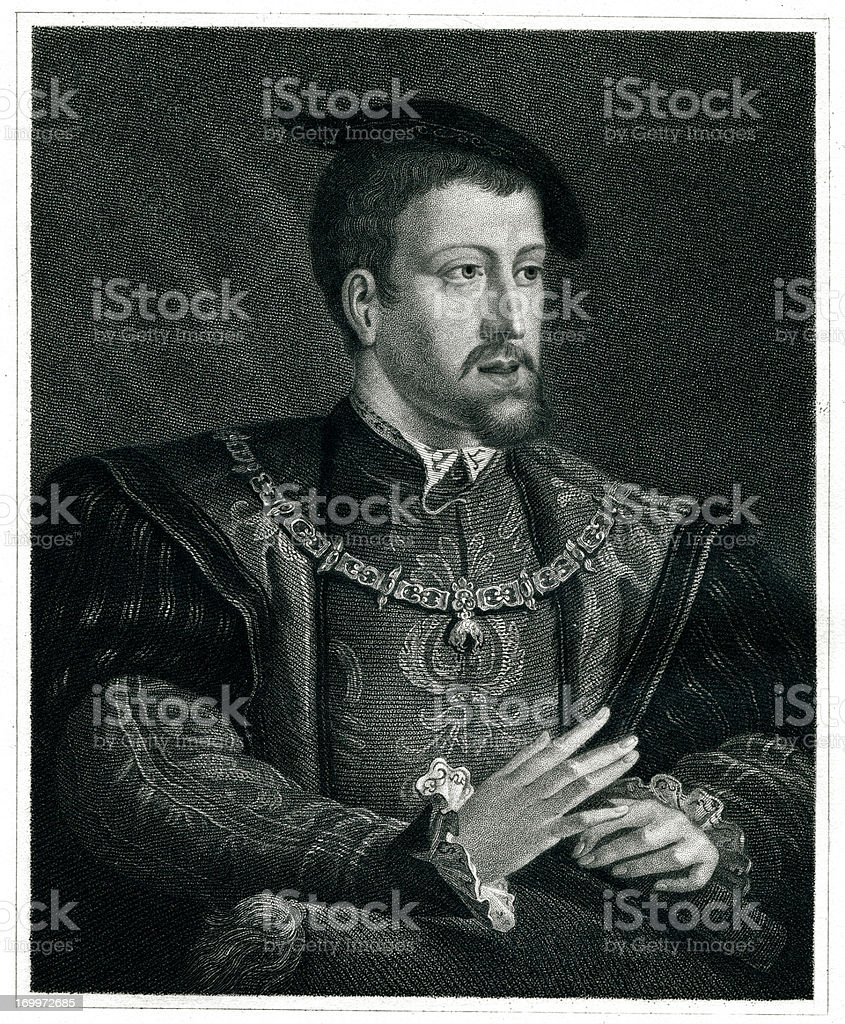Charles V vector art illustration