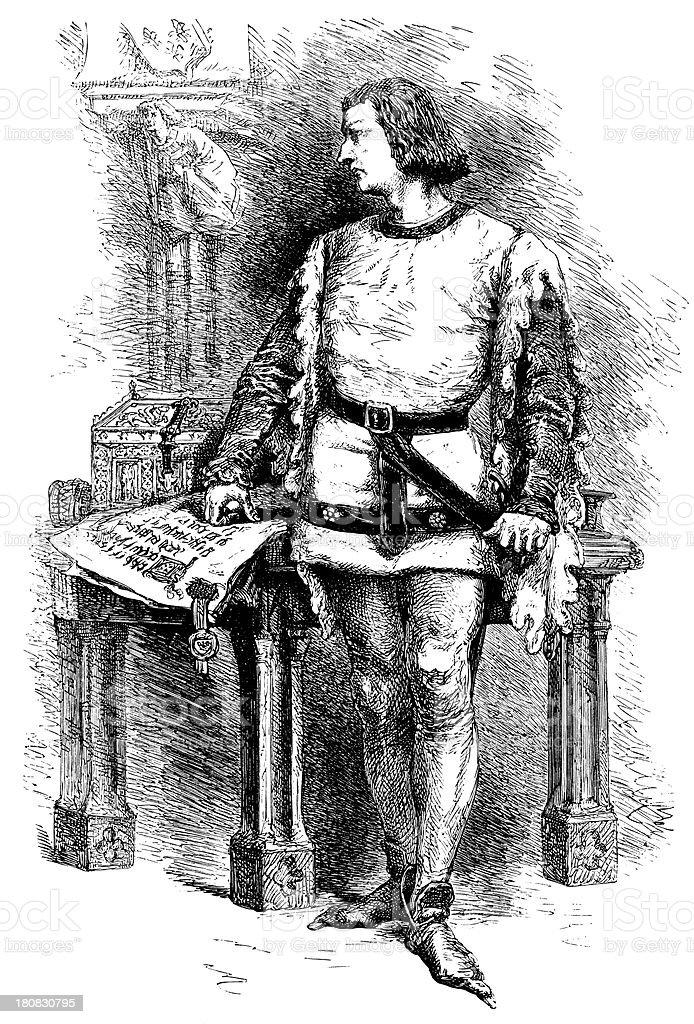 Charles V royalty-free stock vector art