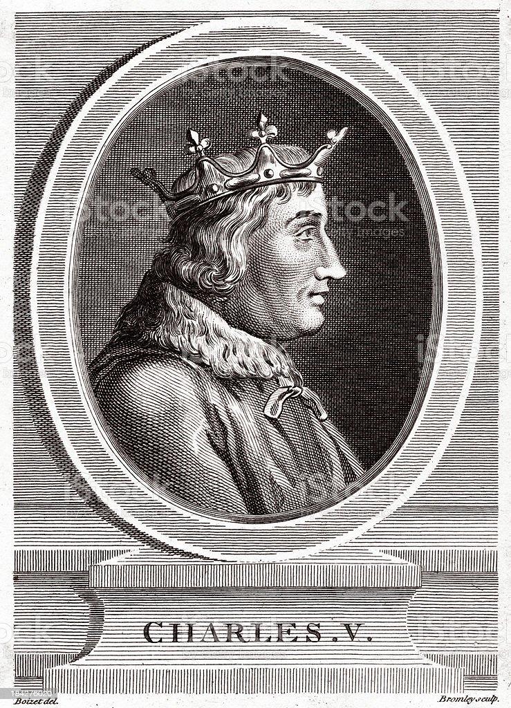 Charles V vector art illustration