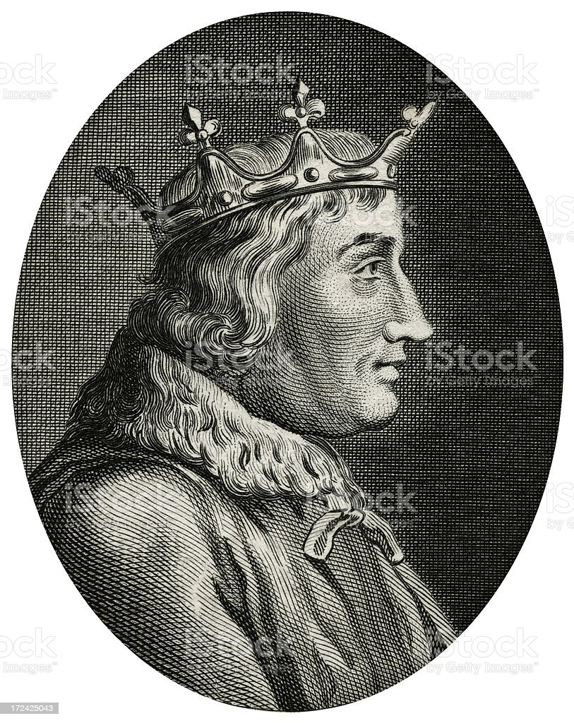 Charles V The Wise,King Of France vector art illustration