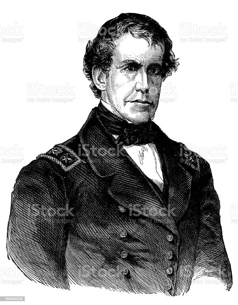 Charles Wilkes,American naval officer and explorer. royalty-free stock vector art