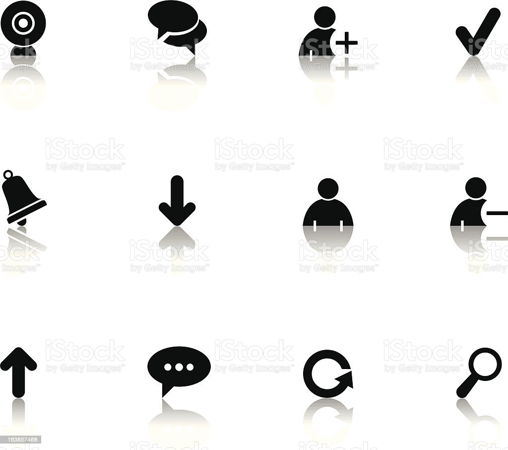 Chat Icons royalty-free stock vector art