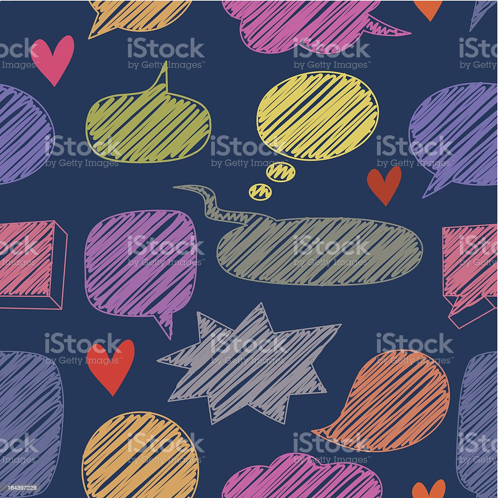 chat pattern royalty-free stock vector art