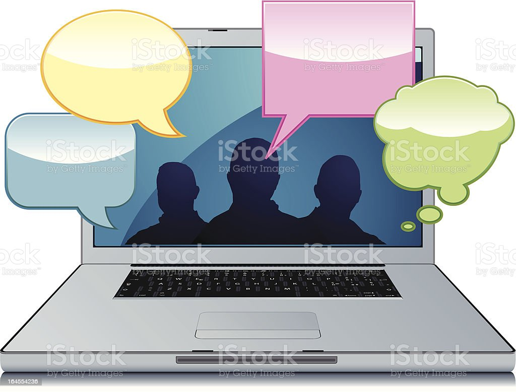 chatroom on laptop royalty-free stock vector art