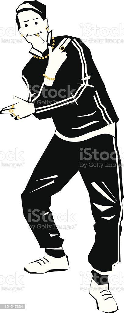 Chav pose vector art illustration