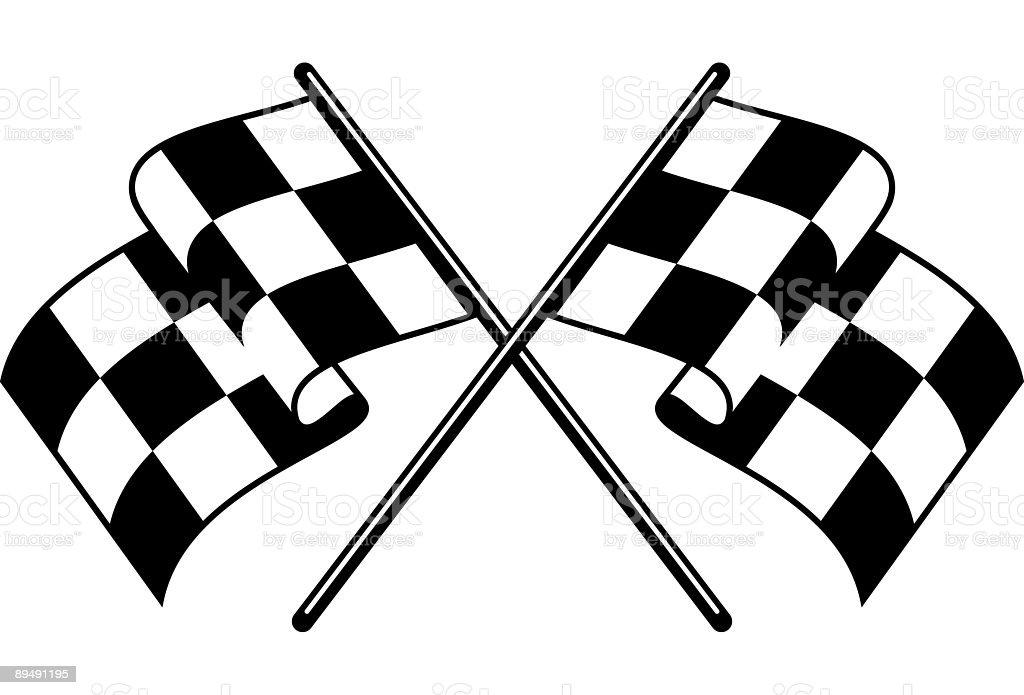 Checkered Flags vector art illustration