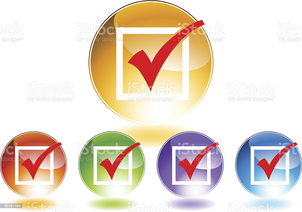 Checkmark Icons royalty-free stock vector art