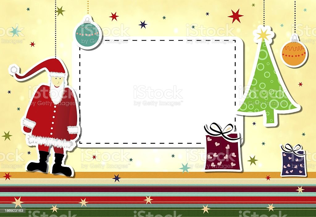 cheerful christmas background royalty-free stock vector art