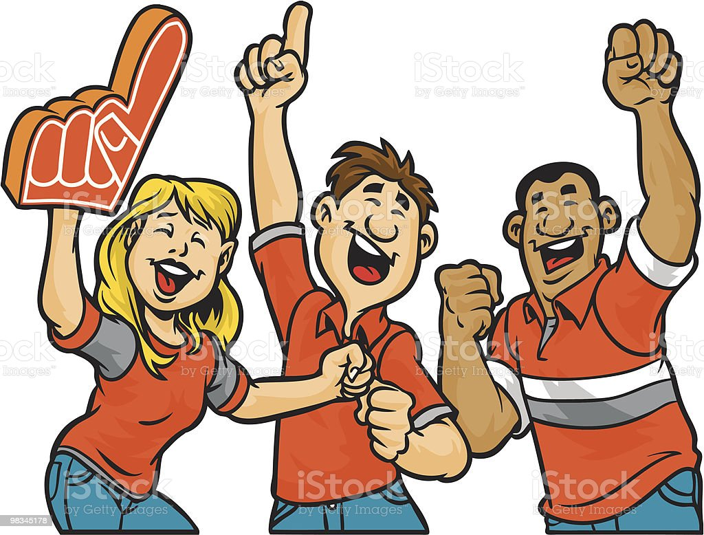 Cheering section royalty-free stock vector art