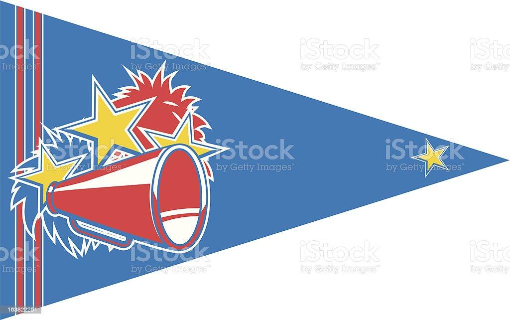 cheerleader sport banner royalty-free stock vector art