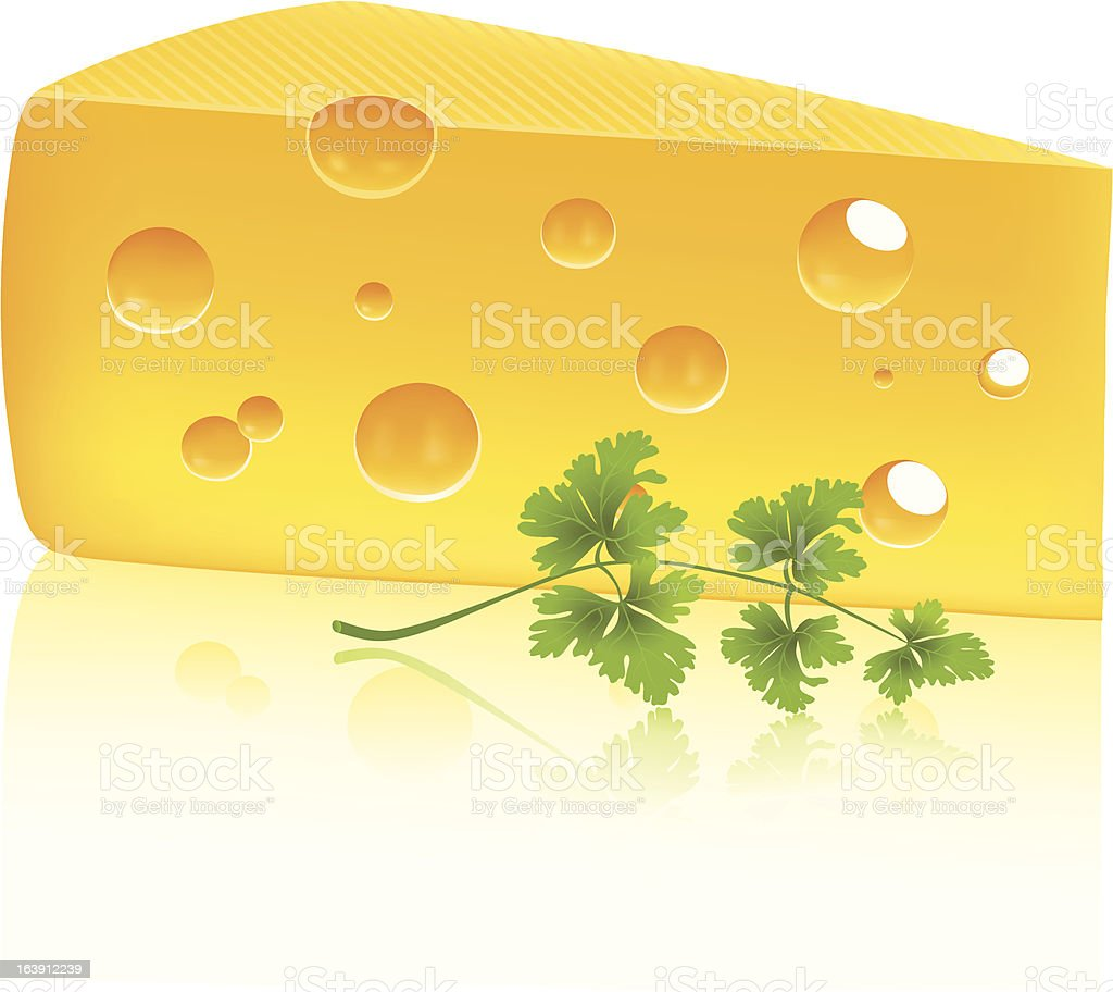 Cheese and parsley royalty-free stock vector art