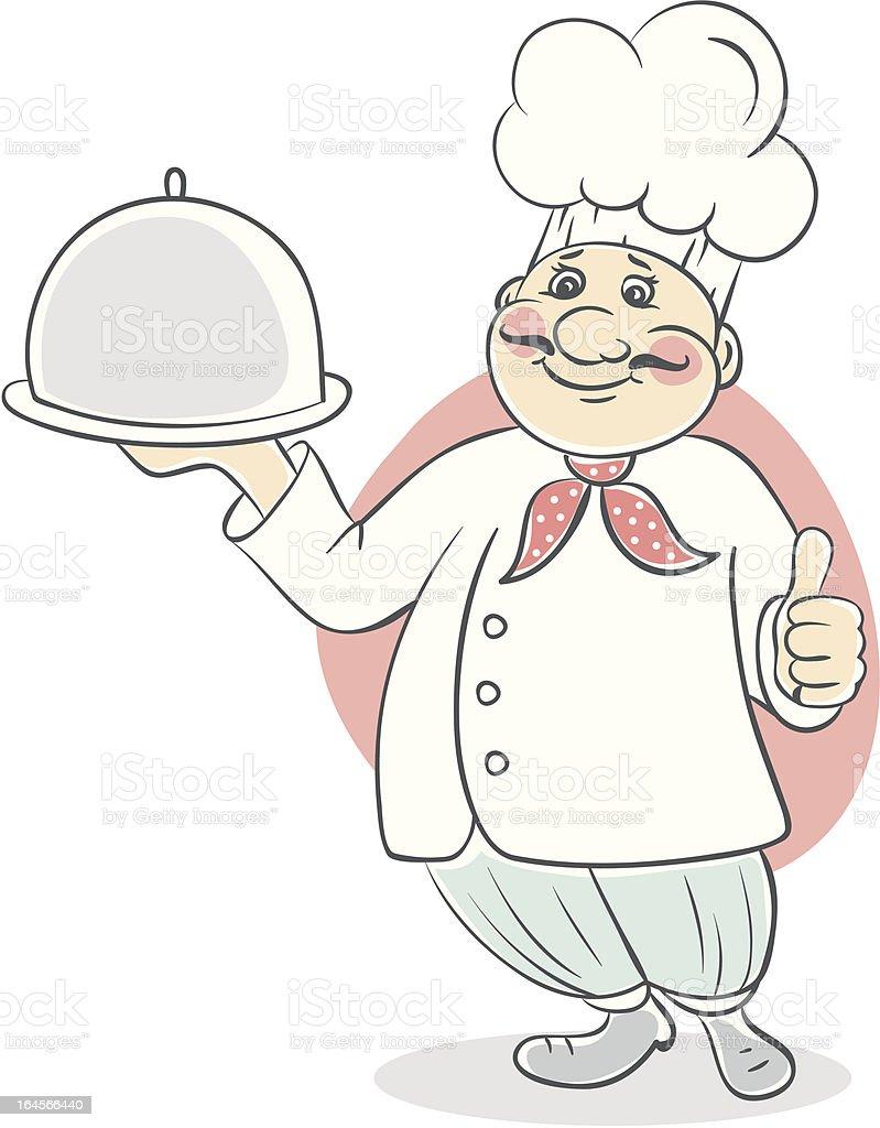 Chef cook men royalty-free stock vector art