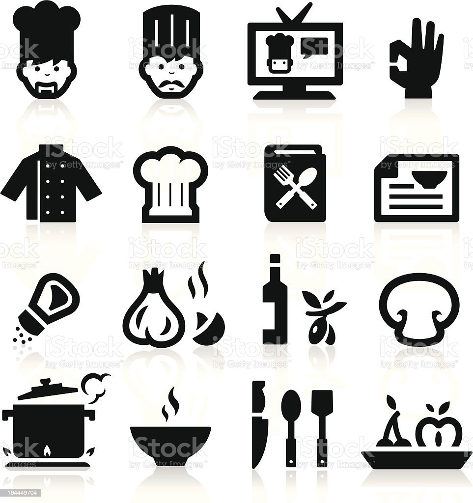 Chef icons royalty-free stock vector art