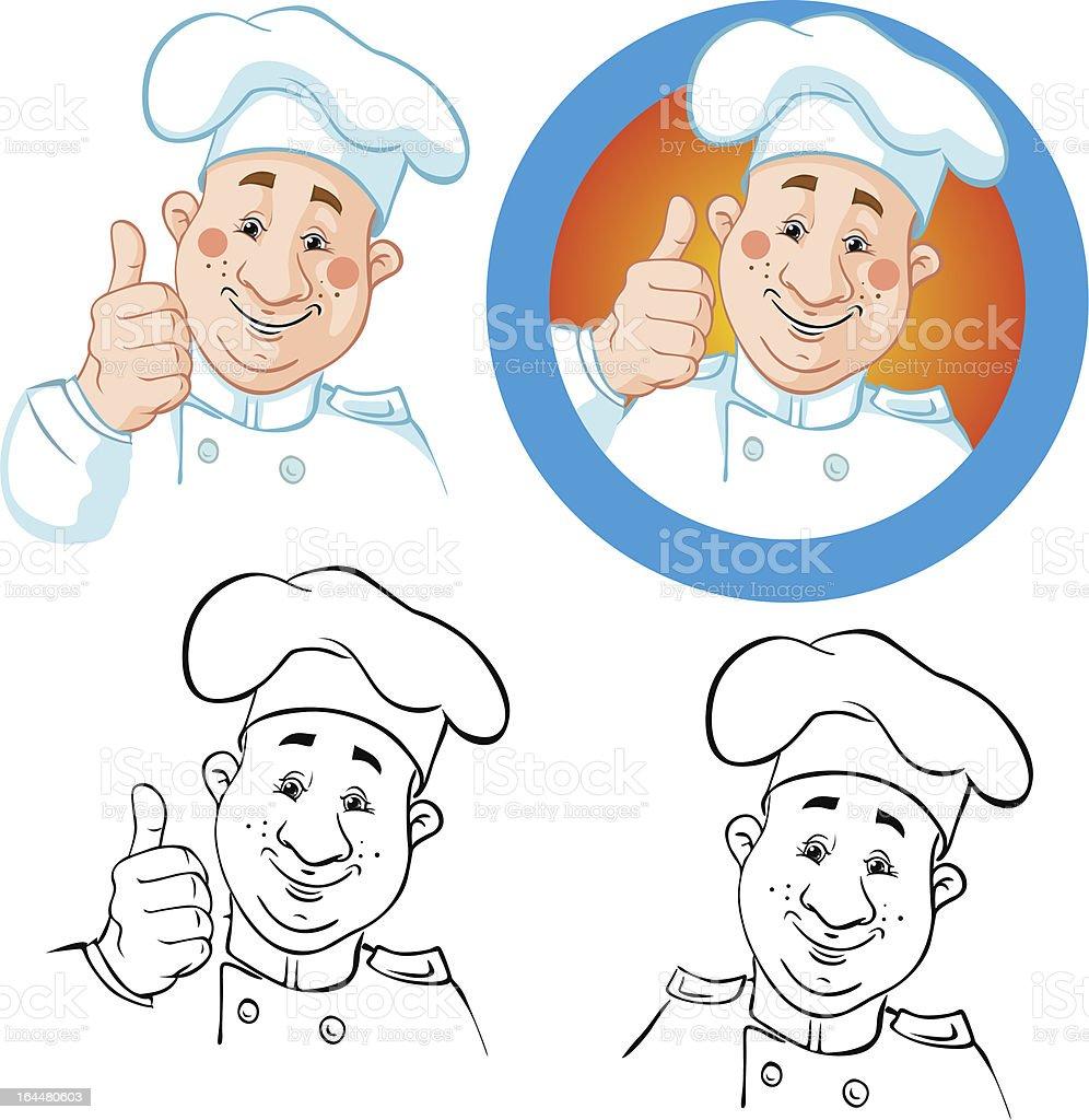 chef illustration royalty-free stock vector art