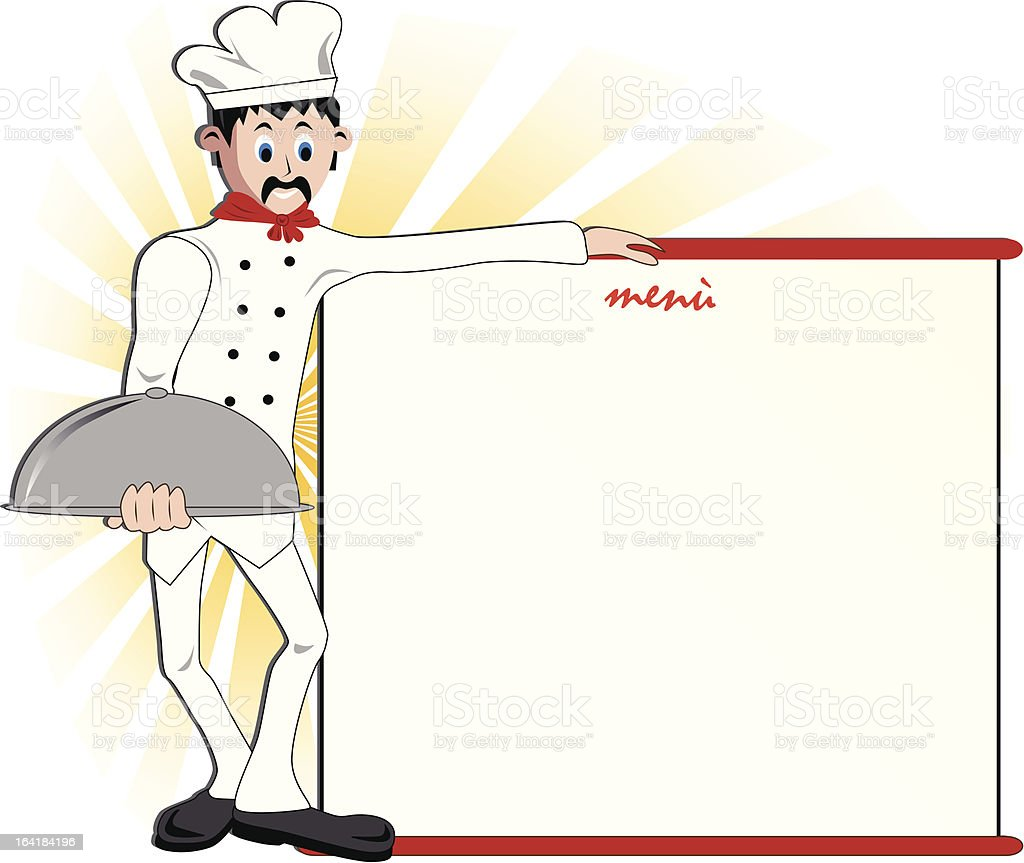 Chef Menu royalty-free stock vector art