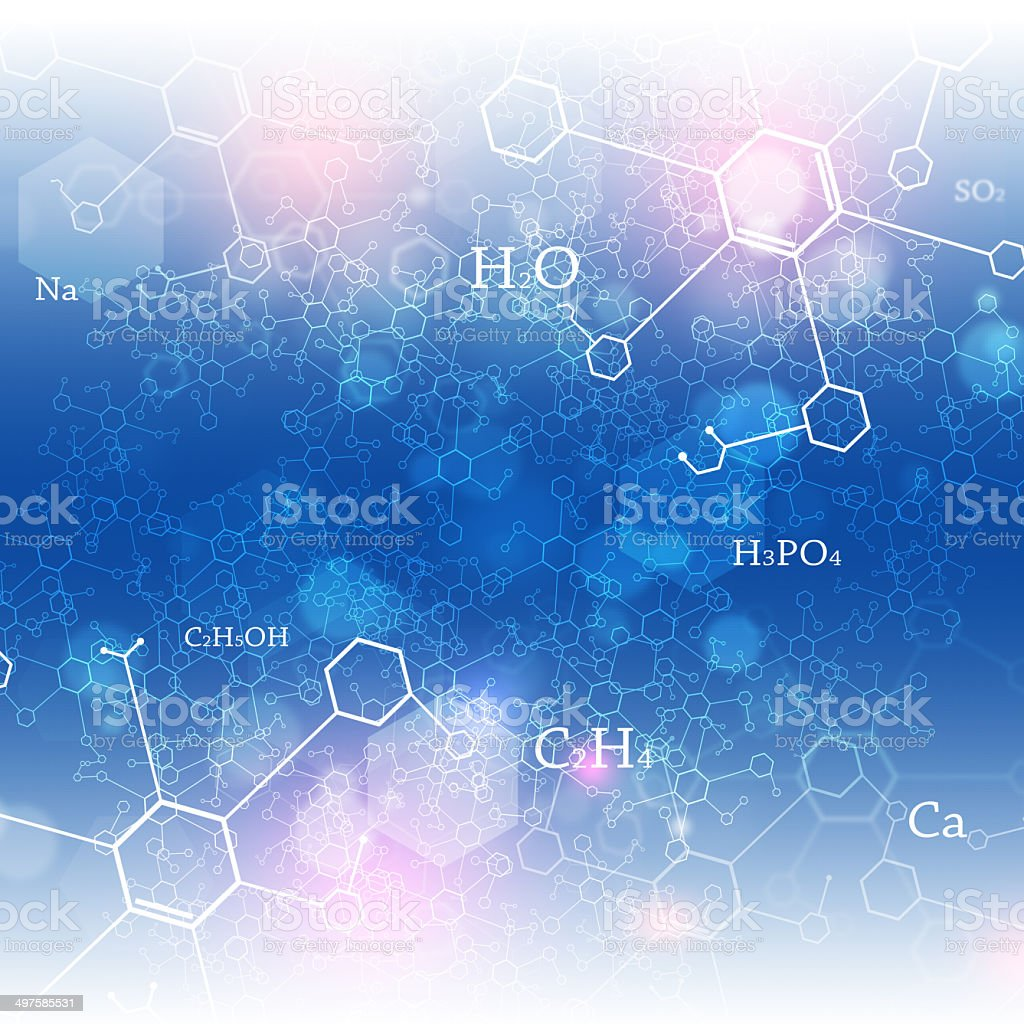 Chemical Abstract Background vector art illustration
