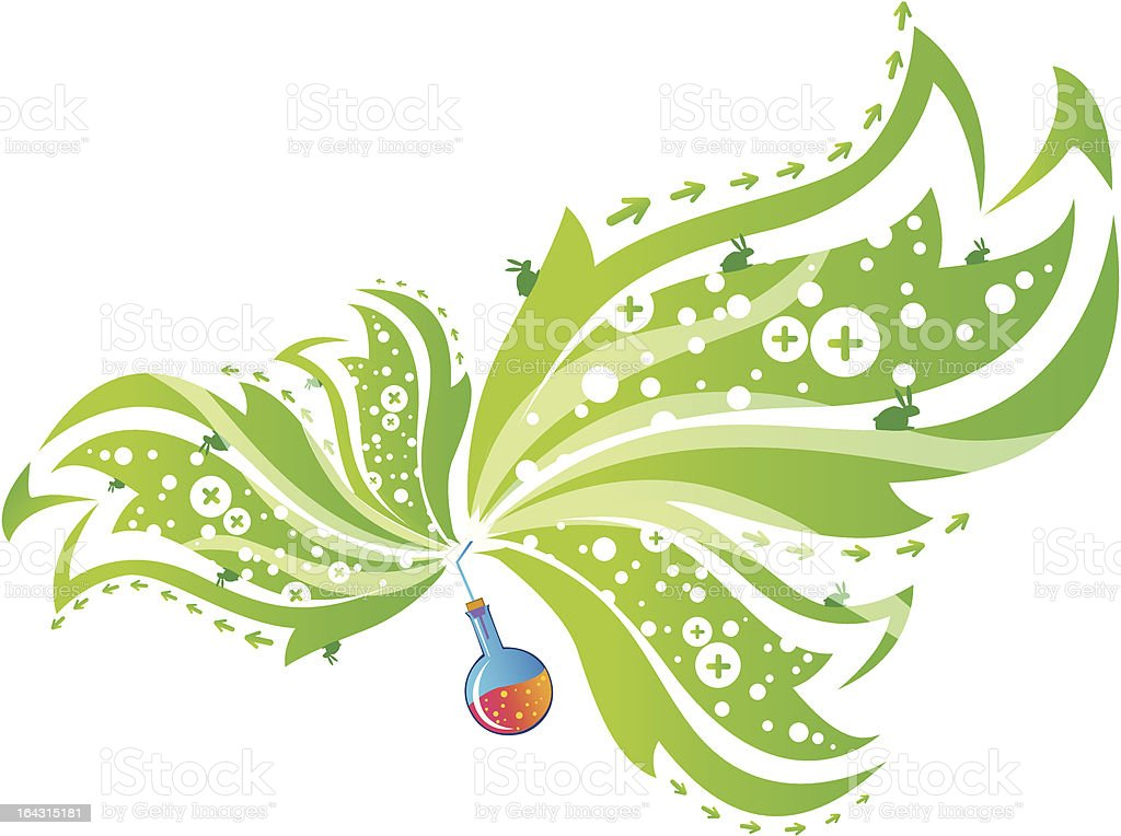 Chemical flower vector art illustration