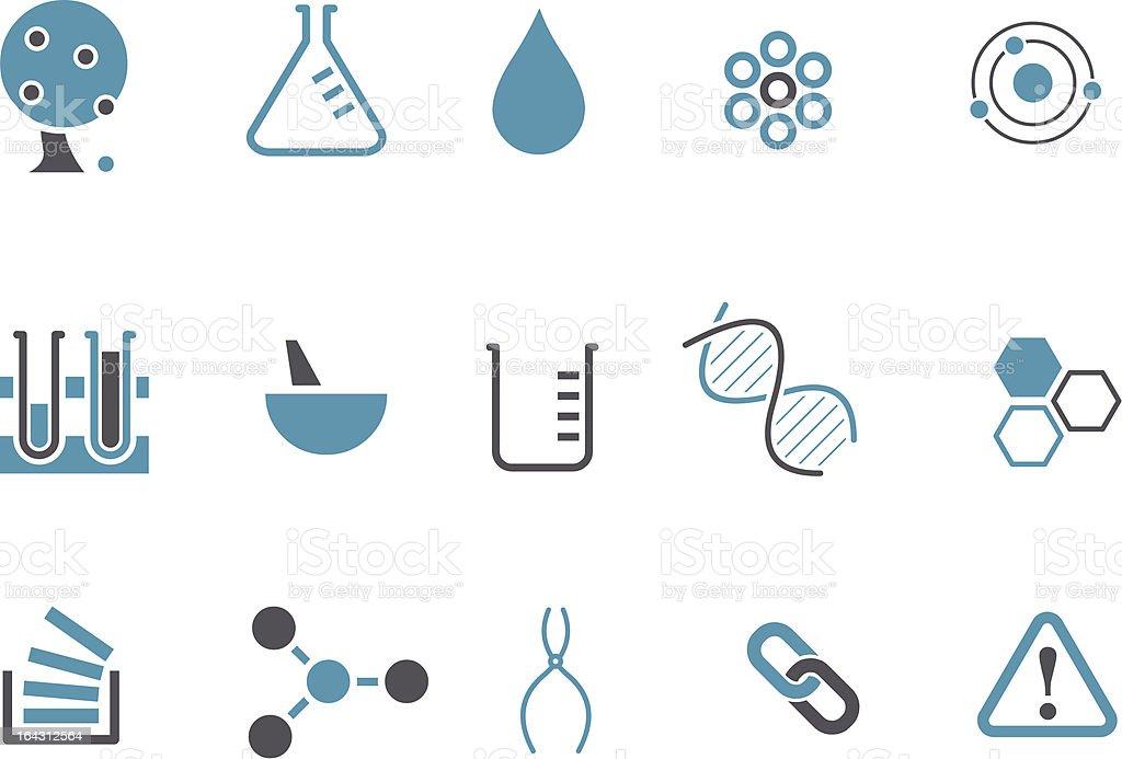 Chemistry Icon Set royalty-free stock vector art