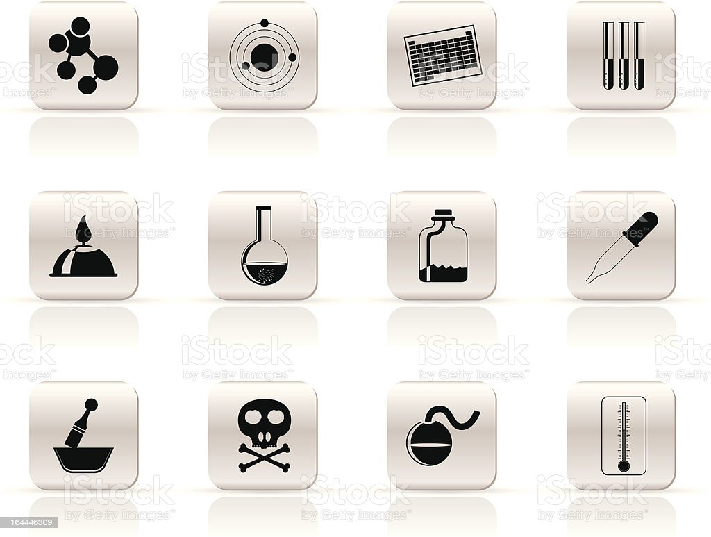 Chemistry industry icons royalty-free stock vector art