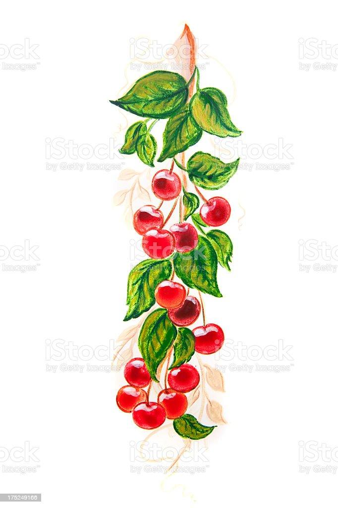 Cherries Painting royalty-free stock vector art