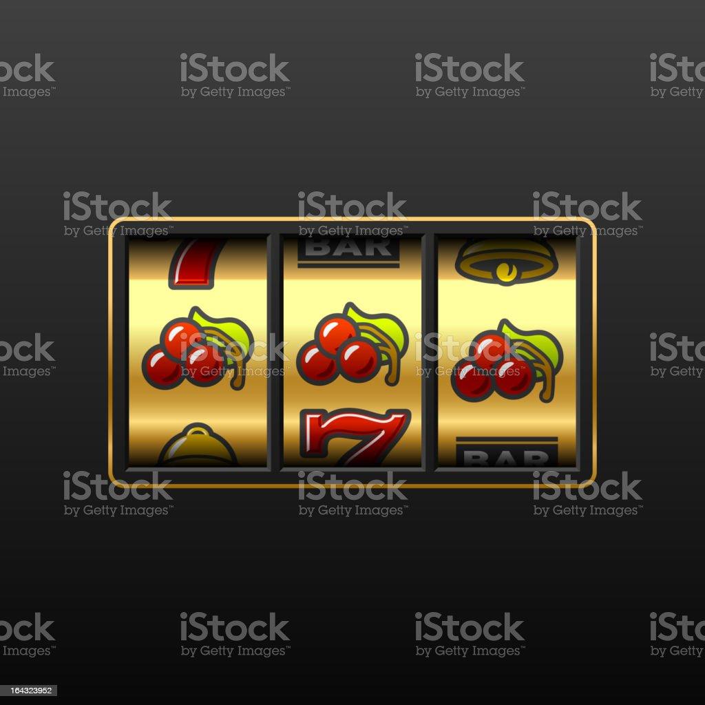 Cherries. Winning in slot machine. vector art illustration