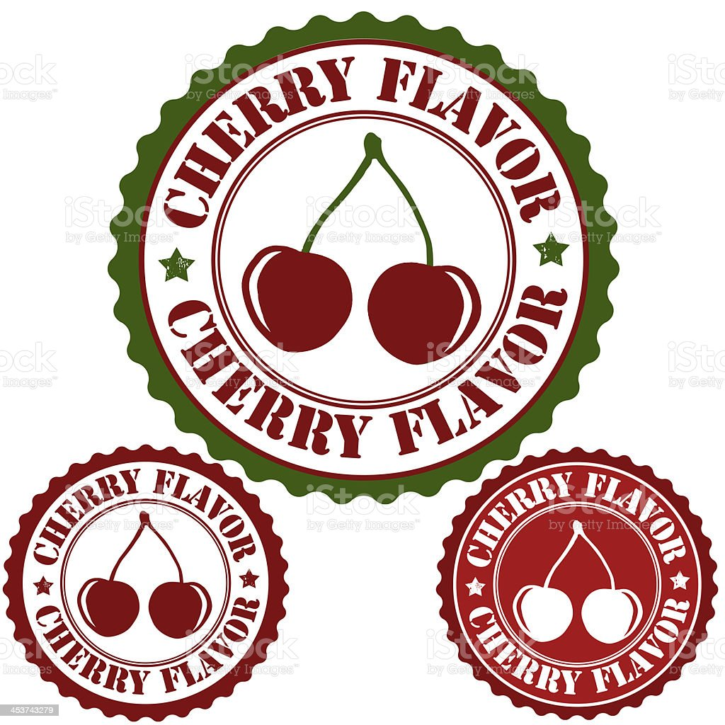 Cherry flavor stamp royalty-free stock vector art