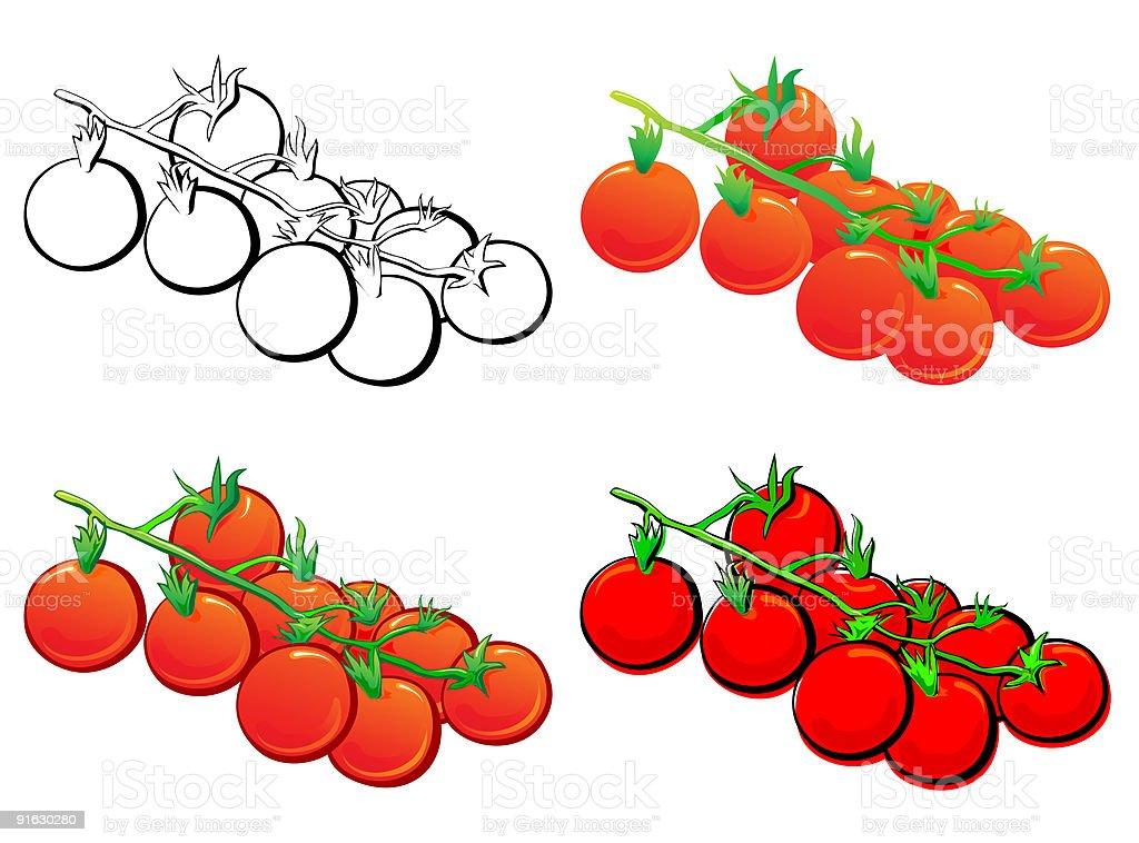Cherry Tomato royalty-free stock vector art