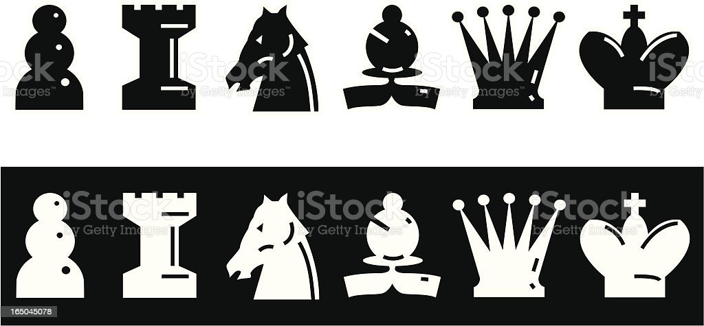 Chess icons vector art illustration