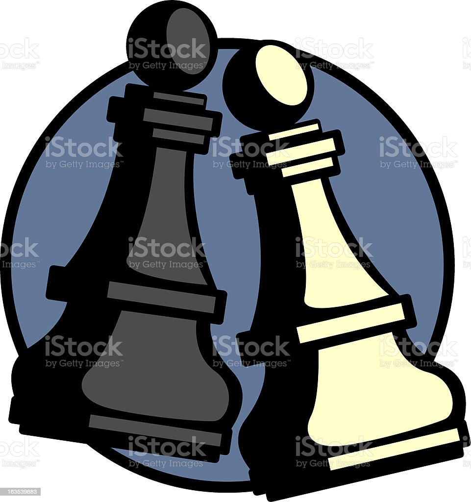 chess pieces royalty-free stock vector art