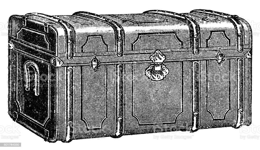 chest vector art illustration