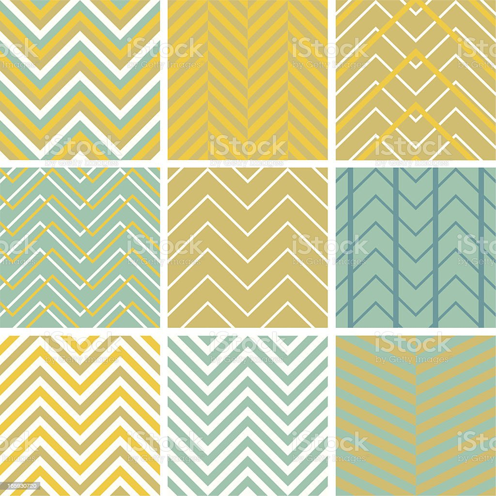 Chevron seamless pattern set royalty-free stock vector art