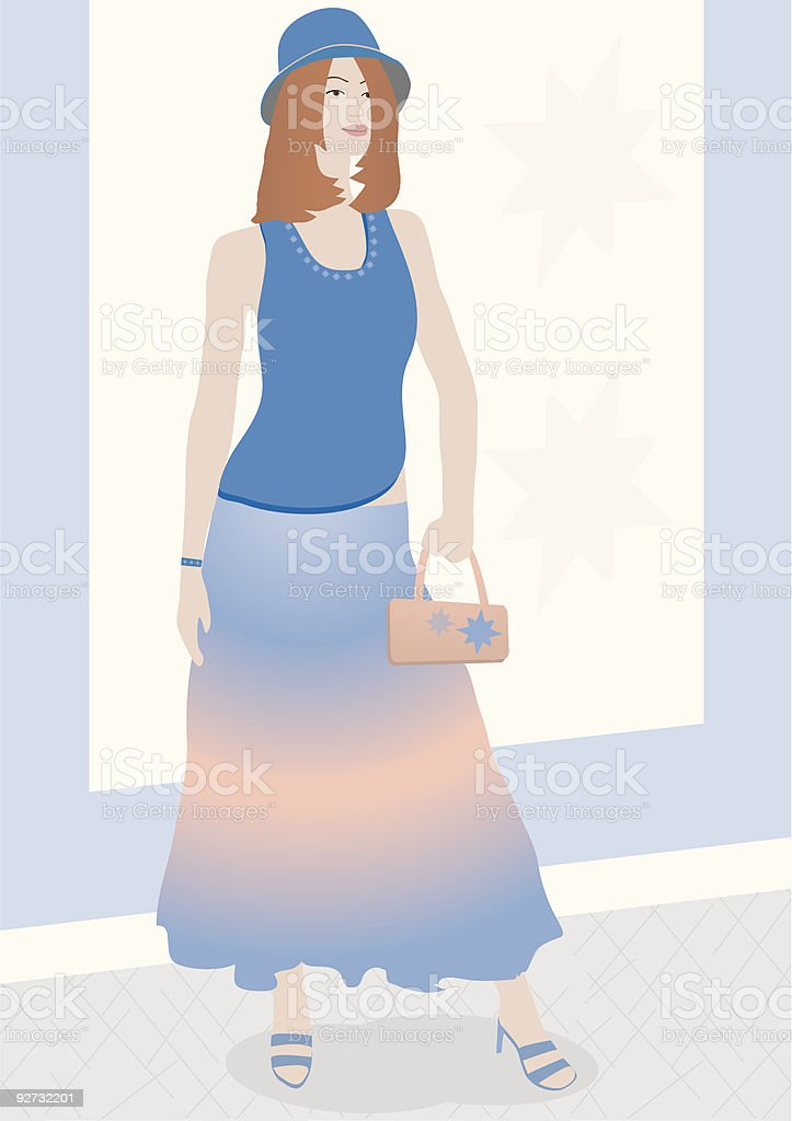 Chic Chick royalty-free stock vector art