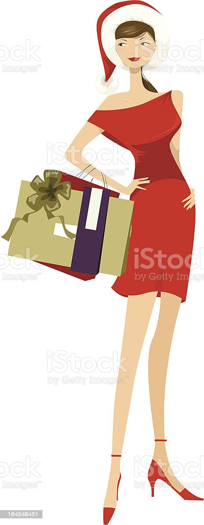 Chic in christmas royalty-free stock vector art