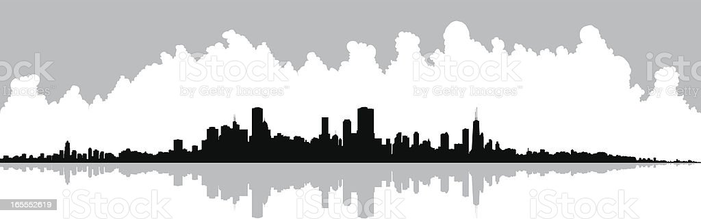 Chicago Waterfront royalty-free stock vector art